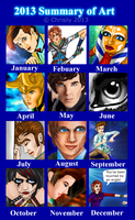 2013 Summary of Art by Chrisily