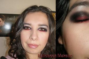 my Halloween makeup by ceciliay