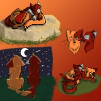 Omg, Moar Grimmons Cat Doodles by Cabooselover
