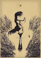 Rustin Cohle by mikefeehan
