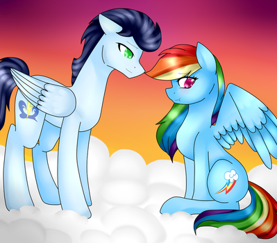 Soarin and Dashie by TheCreativeRey