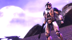 501st Clone Trooper standing about by jeriffshacob