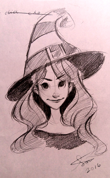 Witch Sketch by Samiriam