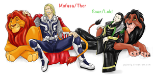 Crossover: Thor x The Lion King by JeyHaily