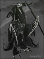 Death Vulture by Ink-Leviathan
