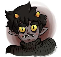 Freaky Karkat by PictoShaman