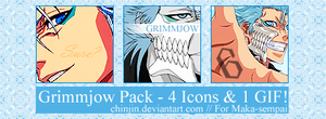 Grimmjow Icon Pack by ChinJin