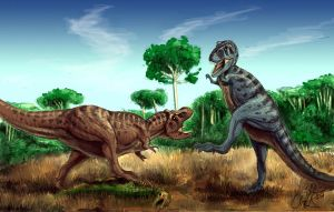 Cretaceous Confrontation by Art-Minion-Andrew0