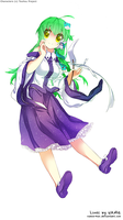 Coloring Sanae by FalllingStar-Leo