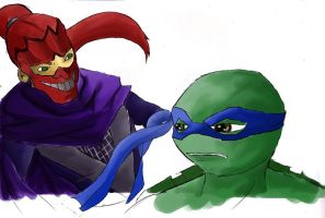 Ultimate Ninja vs. Leonardo by edogori