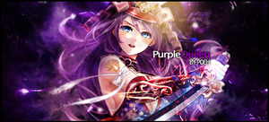 Purple Queen Tag Signature Banner by WinnieDePoeh