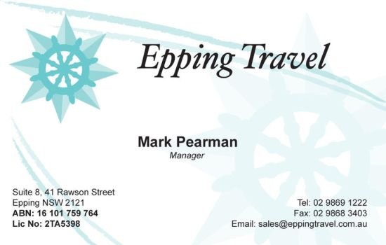 epping travel - business card. by fish-popsicle
