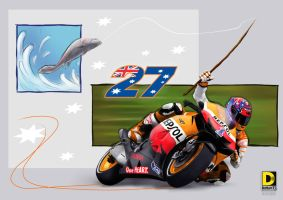 A Tribute for 27 (Casey Stoner Going Fishing) by dnhart13