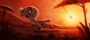 Daily Paint 652. Jurassic Book. Color Board Test by Cryptid-Creations