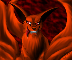 Demon Eyed Kyuubi by CheetahBrotherKenji
