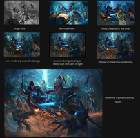 Process: Heroes of the Storm - New Challengers by raikoart