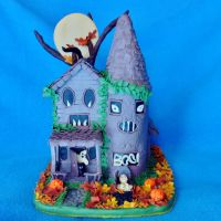 Spooky Glow in the Dark Halloween Haunted house by CreativeCritters