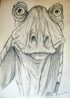 Jar Jar Binx by JenTheThirdGal