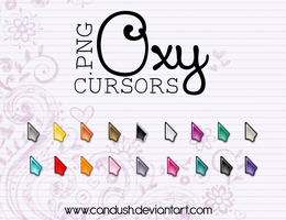 Oxy Cursors png - By, Candush by Candush