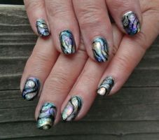 20140607 Abalone Shells by m-everhamnails