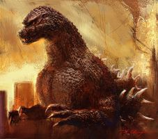 Godzilla 1954 remake by NaruhinaProductions