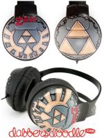 Triforce Headphones by DablurArt
