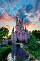 The Sun Sets on Cinderella Castle by shaderf