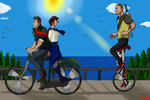 Riding Bikes by valkdaombras