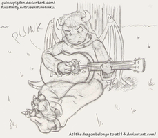 Dragons can't play guitars by GuineaPigDan