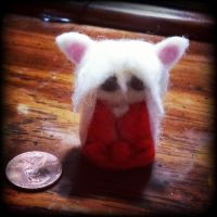 Inuyasha Needle Felted Doll by xrazorprincessxx