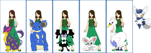 Pokemon Series: Audrey's team by Colleen15