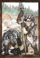 Badger Track by Goldenwolf