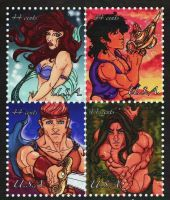Disney Stamps by IcarusWing87