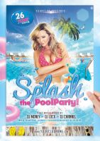 Splash Pool Party Flyer Template by jellygraphics