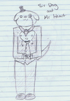 Sir dog and mr Heart by Ellouises