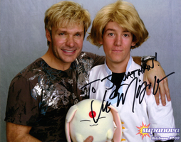 Me and Vic Mignogna by Galener