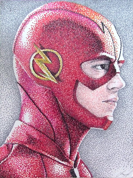 The Flash Pointillism by AnthonyParenti