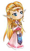Chibi Adult Zelda by Ranefea