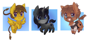 chibi pony batch 5 by pekou