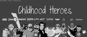 Childhood heroes by alexandersolbakken