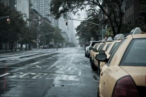 Hurricane Irene - New York - Empty Streets by 3mpl3x