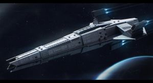 Sci-Fi Cruiser Book Cover by AdamKop