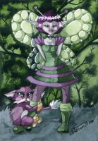 alien fairy and space creature by candcfantasyart