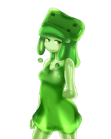 minecraft mob: medium slime (shy) by patrickwright15