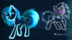 68 - Vinyl Scratch BlueHeaven (Windows 7 Ultimate) by Ov3rHell3XoduZ