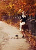 Autumn Town by Snowfall-lullaby
