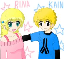kain and rina 2 - first cg try by kain49