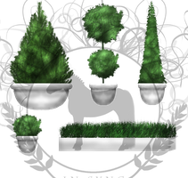 Premade Potted Plants by Decorum100