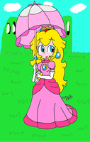 Peachy Lineart: coloured (paratroopaCx) by Glaciliina