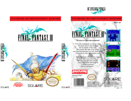 Final Fantasy III Retail Box by vladictivo